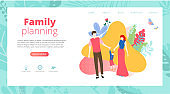 Family planning. People with kid spend weekend together, plan leisure time and holidays.