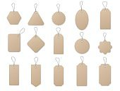 Sale tag and labels vector template set. Price tag on white background.
