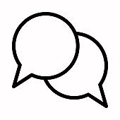 Speech bubble chat icon vector logo symbol or illustration.