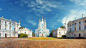 Smolny cathedral in Saint Petersburg, Russia