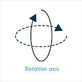 Rotation axis flat icon