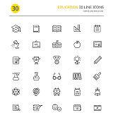 Training line Icons