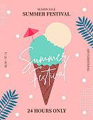 Summer sale Poster, Web Banner, Pop-Up, banner template design. seasonal discount vector Illustration.