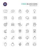 30 Line icon set