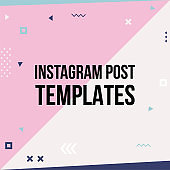 Trendy geometric templates for social media posts.
