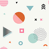 Trendy geometric seamless pattern.