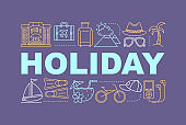 Holiday word concepts banner
