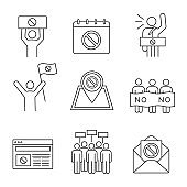 Protest action icons