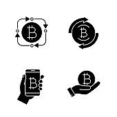 Bitcoin cryptocurrency icons