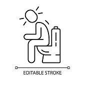 Diarrhea, constipation vector linear icon