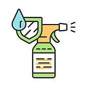 Waterproof spray bottle color icon