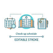 Check-up schedule concept icon