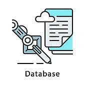 Database color icon