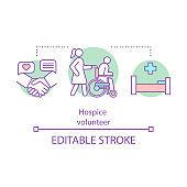 Hospice volunteer concept icon