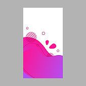 Pink neon dynamic abstract fluid social media background