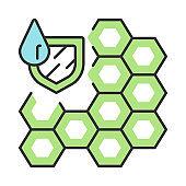 Waterproofing membrane color icon