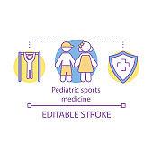 Pediatric sports medicine concept icon