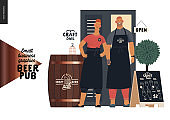 Brewery, craft beer pub - small business graphics - bar owners