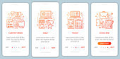 Making sales onboarding mobile app page screen vector template