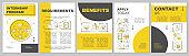 Internship program brochure template layout