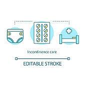Incontinence care concept icon