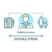 Pediatric concept icon