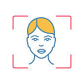 Facial recognition system color icon