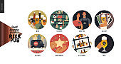 Brewery, craft beer pub - small business graphics - web icons