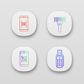 Barcodes icon set