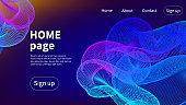 Homepage vector design