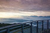 Autumn morning in ski resort, Carnic Alps, Austria.