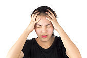 woman headache migraine