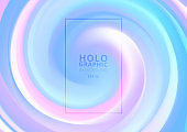 Abstract holographic pastel and neon color design background.