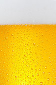 Beer Background. Ice Cold Beer Glass With Water Drops Condensation