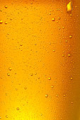 Beer Background. Ice Cold Beer Glass With Water Drops Condensation Close up.
