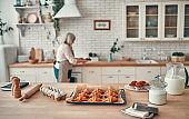 Senior woman on kitchen