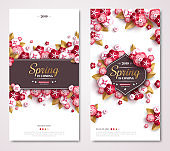 Vintage spring banners