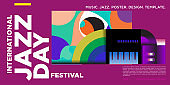 Colorful jazz day poster