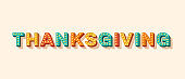 Thanksgiving card or banner