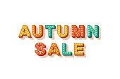 Autumn sale flat vector lettering