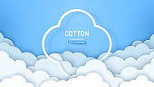 Cotton clouds and frame