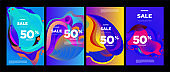 Fluid colorful background banner