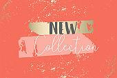 New collection orange trendy grunge paint background