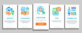 Biohacking Onboarding Elements Icons Set Vector