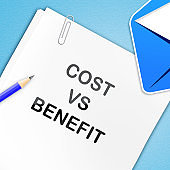 Cost Vs Benefit Report Means Comparing Price Against Value - 3d Illustration