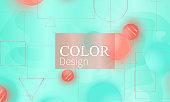 Color background. Fluid pattern.