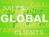 Global concept icon means worldwide or International trading - 3d illustration