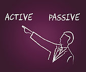 Active Versus Passive Man Pointing Represent Proactive Strategy 3d Illustration