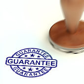 Guarantee concept icon means a safeguard or insurance against product faults - 3d illustration