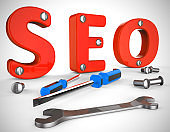 SEO concept icon means search engine optimisation for website traffic - 3d illustration